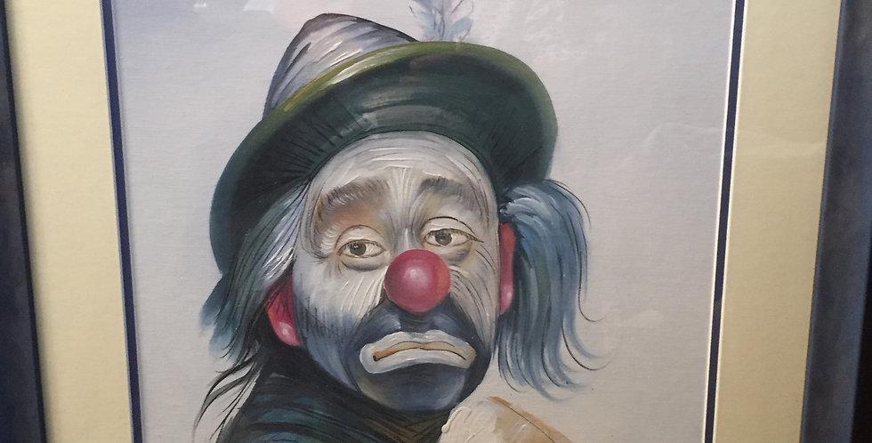 Sad clown by Garros