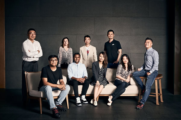 corporate group photo in Shanghai China.