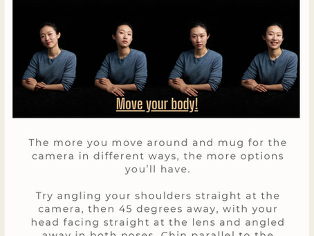 Tips on how to pose for your headshot