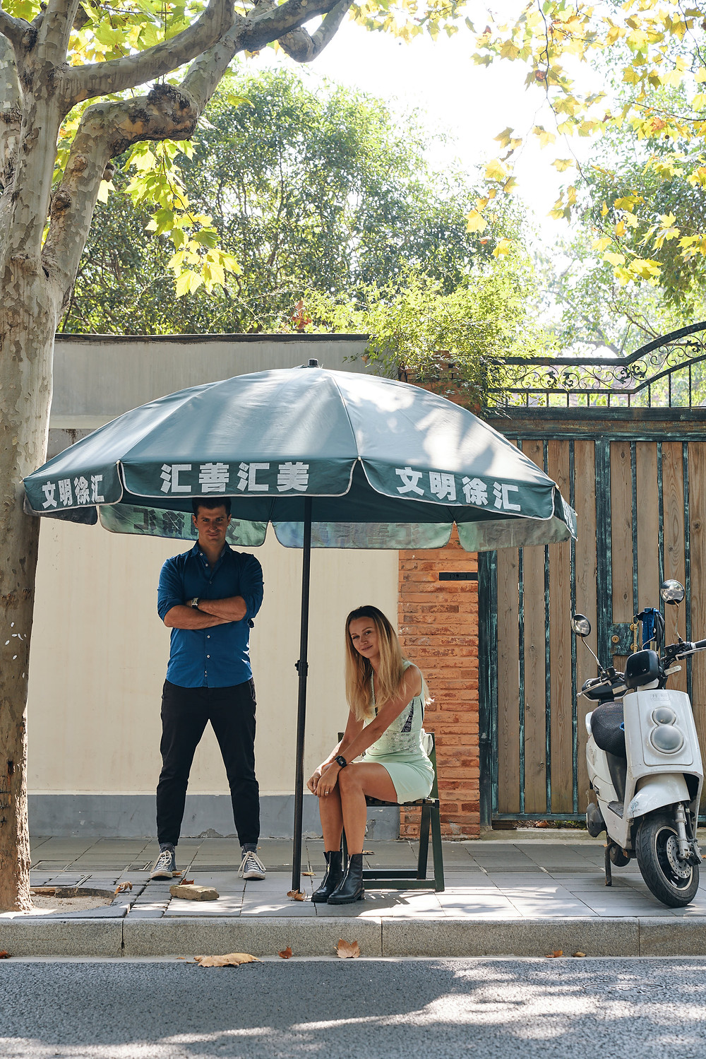 Shanghai French Concession couple photo shooting