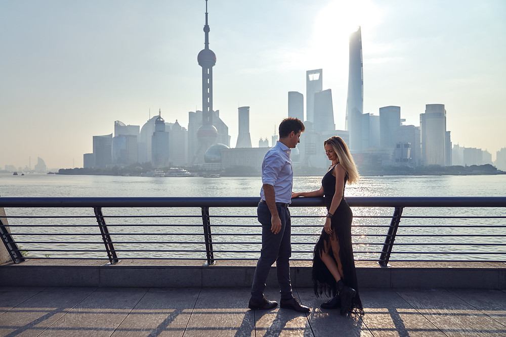 shanghai couple photography at the bund