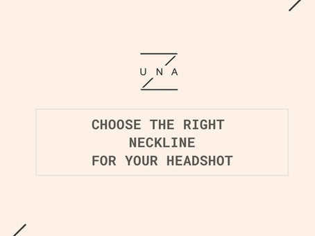 Tips on how to choose the right neckline for female outfits in headshot