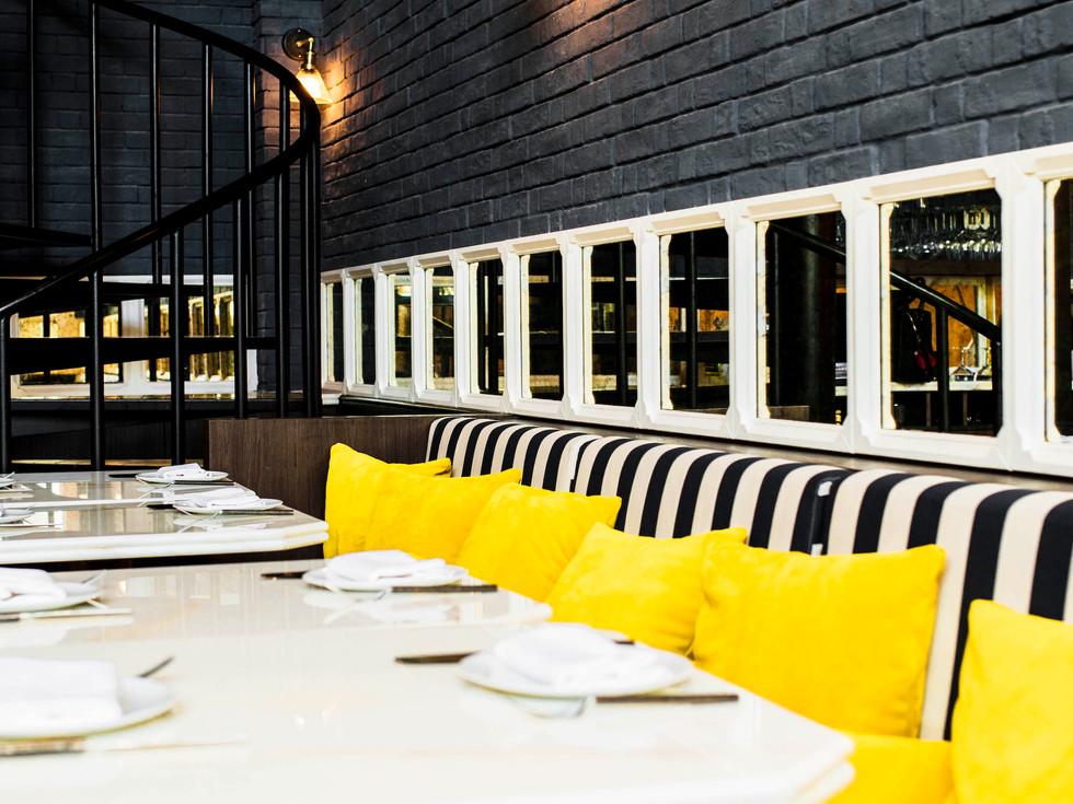 BB Social dining dubai DIFC interior designer restaurant hospitality design