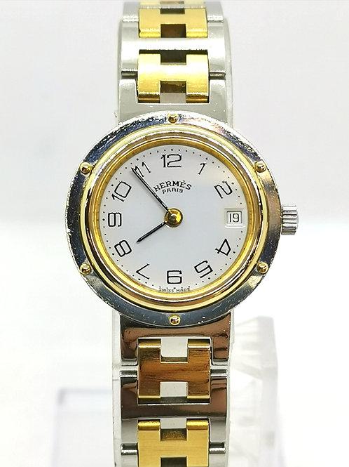 HERMES エルメス クリッパー  コンビ  CL4.220  時計