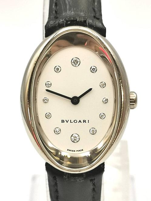 BVLGARI  OVW32G  K18WG  オーバル 12Pダイヤ