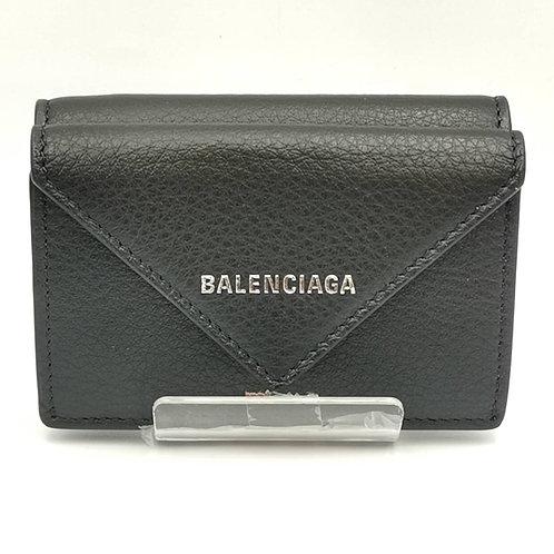 BALENCIAGA バレンシアガ 3つ折りミニペーパーウォレット 財布