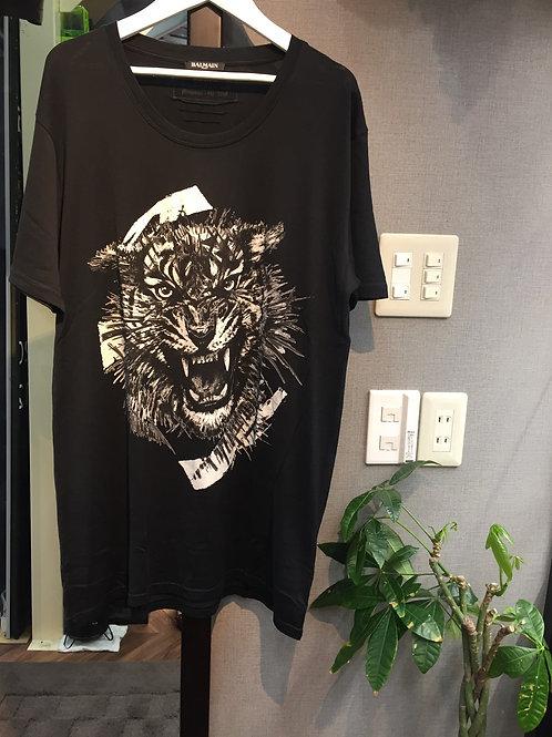 BALMAIN シルバータイガーTシャツ