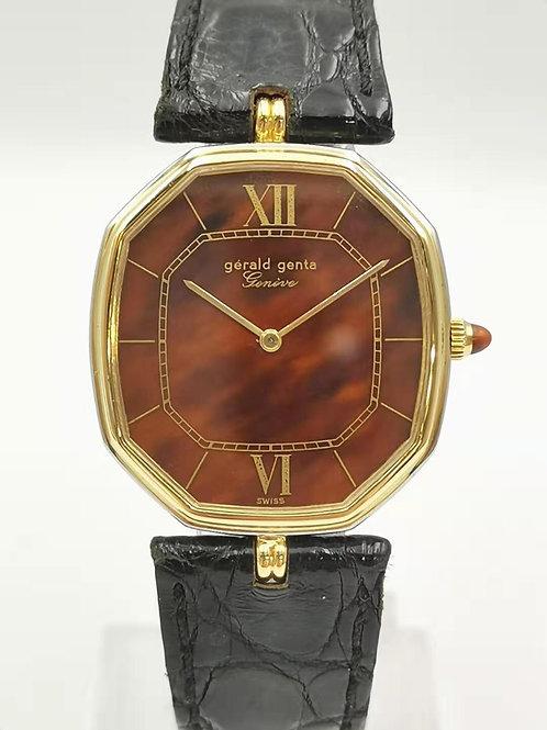 Gerald  Genta  K18YG/WG コンビ オクタゴン 手巻き 時計