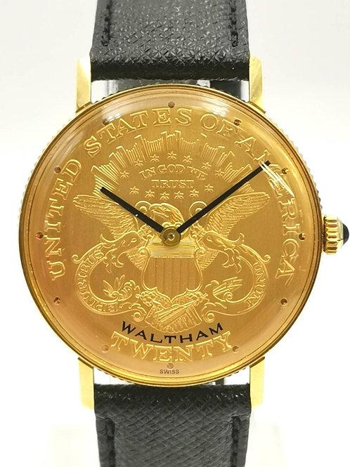 WALTHAM  K18YG  ダブルイーグル