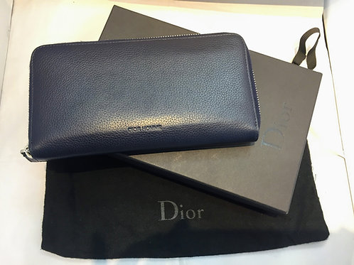 DIOR HOMME ラウンドファスナーロングウォレット