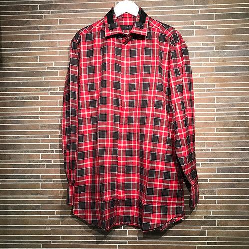 GIVENCHY 襟スターチェックシャツ 38