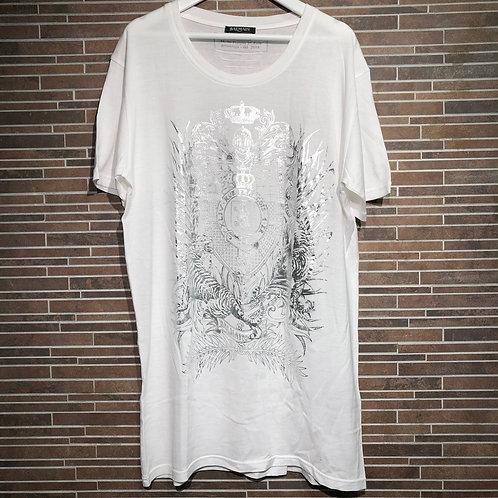 BALMAIN  シルバータイガー&エンブレム Tシャツ M 試着程度 美品