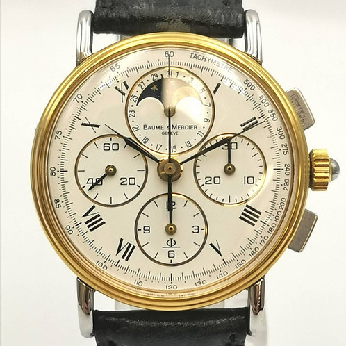 BAUME&MERCIER   クロノグラフ ムーンフェイズ レマニア1883
