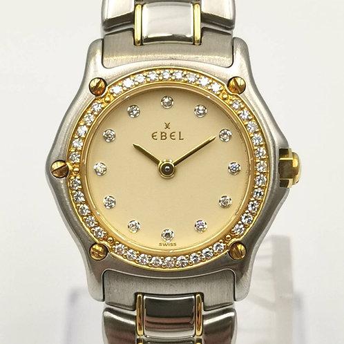 EBEL  クラシックウェーブ  10Pダイヤ  ベゼルダイヤ