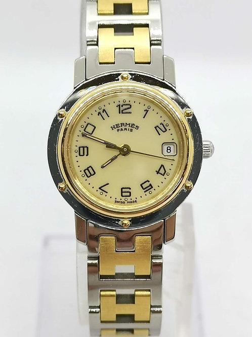 HERMES エルメス クリッパー コンビ CL4.220 腕時計