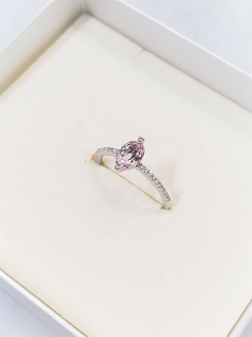 STAR JEWELRY ライトピンクエッグリング 13号 PT950