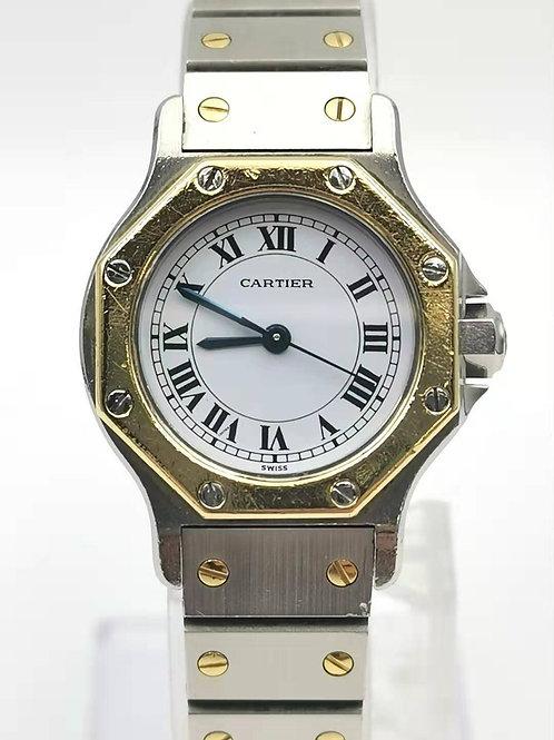 Cartier  カルティエ  K18YG/SS サントス  オクタゴン