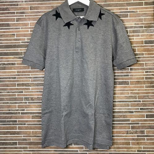 GIVENCHY ブラックスターパッチポロシャツ s