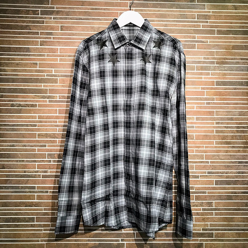 GIVENCHYスタープリントチェックシャツ 38