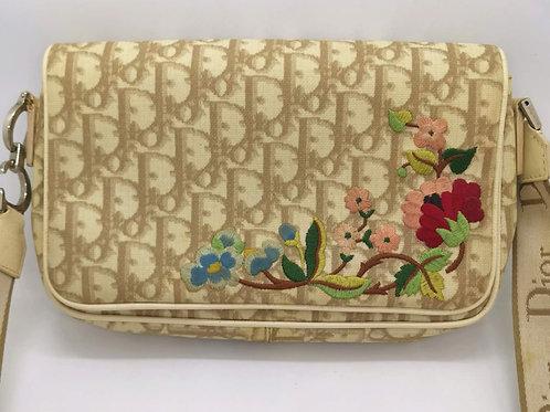 Christian Dior  刺繍 ショルダーバッグ