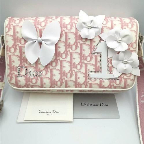 Christian  Dior  トロッターピンク ショルダー バッグ