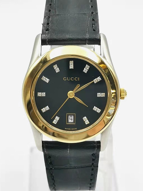 GUCCI グッチ 530L K18YG/SS 22Pダイヤ  時計