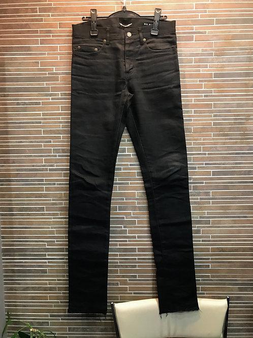 SAINT LAURENT裾切りっぱなしスキニーデニム 29 ブラック