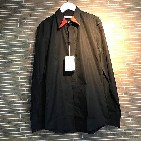 GIVENCHY 襟スター切り替えシャツ 38