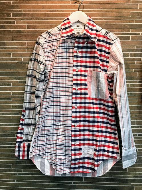 THOM BROWNEチェックシャツ 0 ブルー/レッド