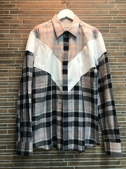 GIVENCHY Vモチーフ チェックシャツ 38