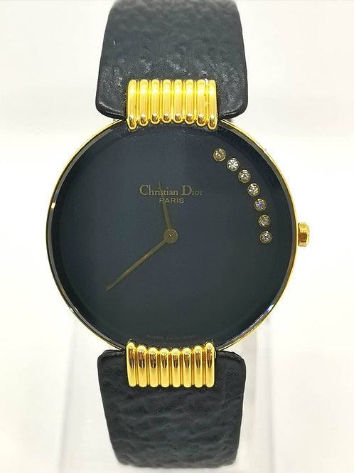 Christian Dior ブラックムーン L47.153.4 腕時計