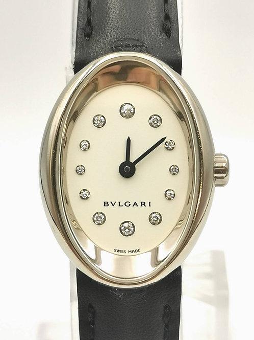 BVLGARI  OVW27G  K18WG オーバル 12Pダイヤ