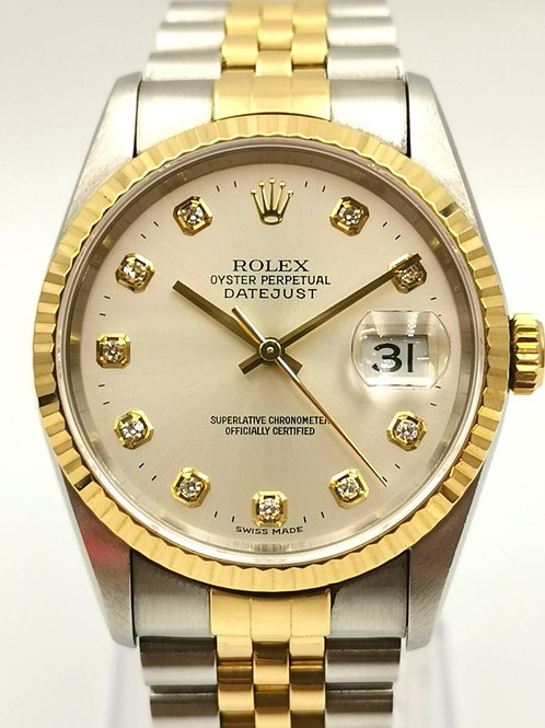 ROLEX   16233G  デイトジャスト 10Pダイヤ