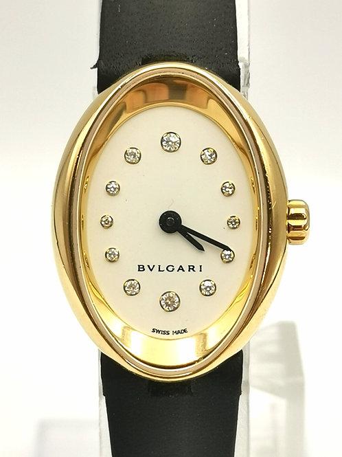 BVLGARI  OV27G K18YG  オーバル 12Pダイヤ