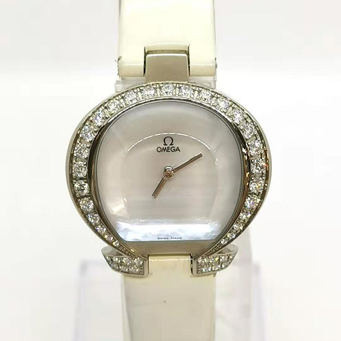 OMEGA  オメガ K18WG 純正ダイヤ オメガマニア 腕時計