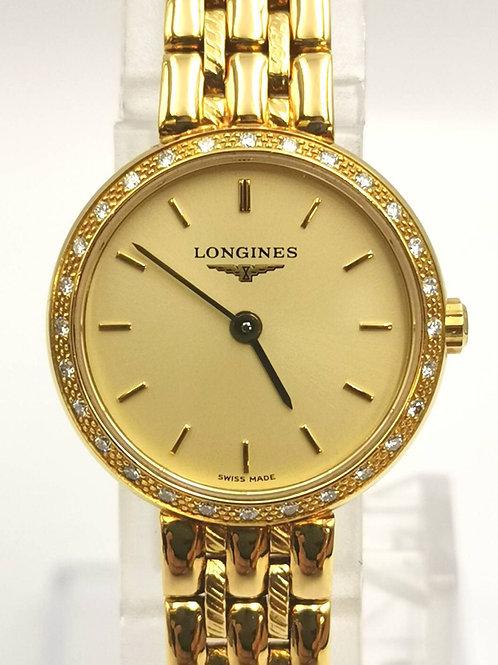 LONGINES   L7.370.7 K18YG  ベゼルダイヤ