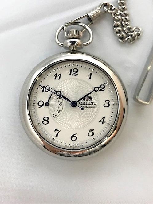 ORIENT DD00-C1-B スケルトン パワーリザーブ 懐中時計