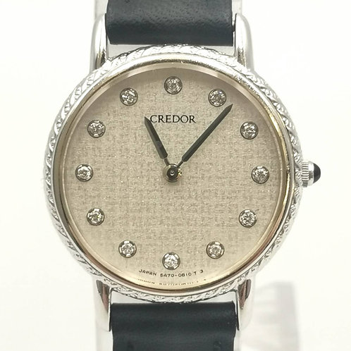 CREDOR  5A70-0400  K18WG  12Pダイヤ