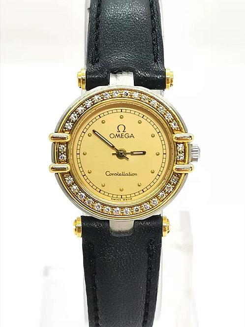 OMEGA オメガ  K18YG/SS  ベゼルダイヤ コンステレーション 時計