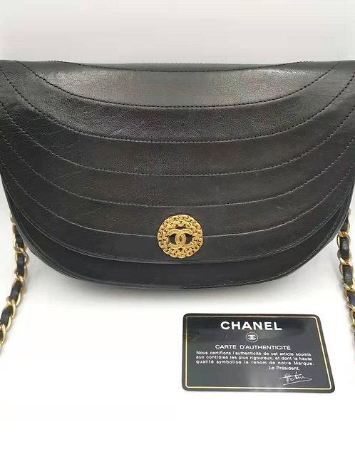 CHANEL  シャネル チェーンショルダー バッグ ブラック