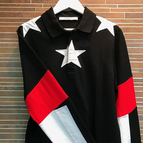 GIVENCHY スター ロングポロシャツ XS