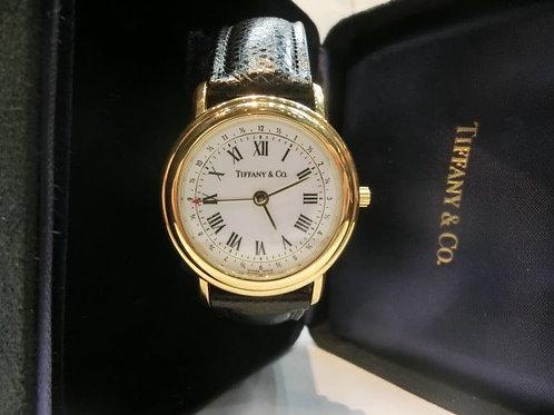 Tiffany & Co. K18YGアラーム付腕時計