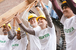 Quadro de construção de voluntários