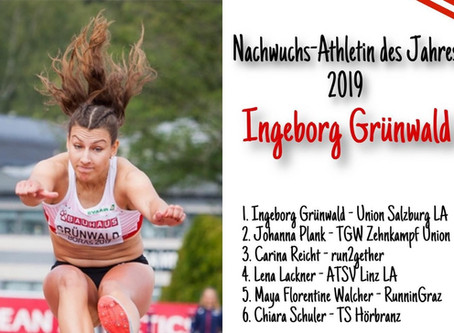 Inge Grünwald Nachwuchsathletin des Jahres 2019