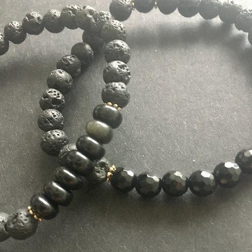 AerTerra Bracelet - Earth - Obsidian