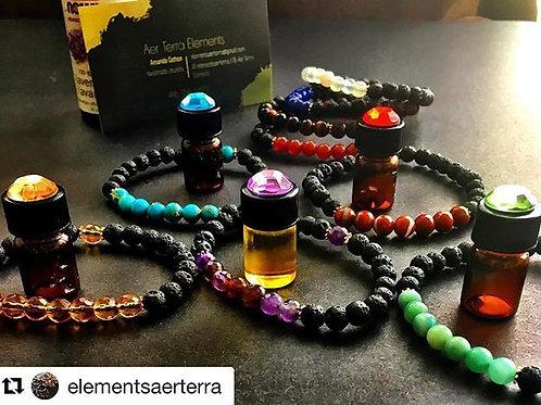 AerTerra Elements Lava Rock Bracelets