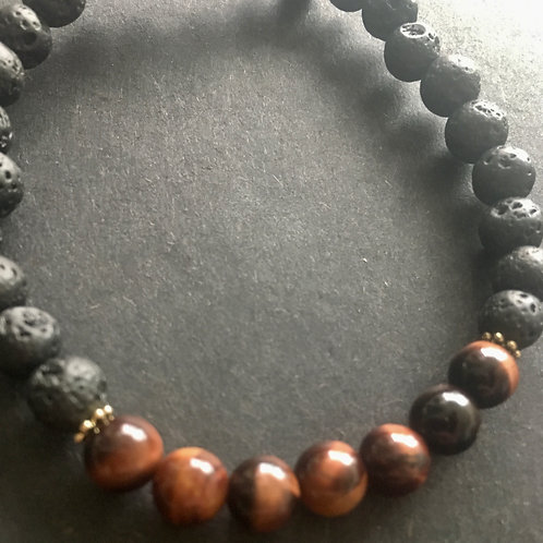 AerTerra Bracelets - Fire - Red Tiger Eye