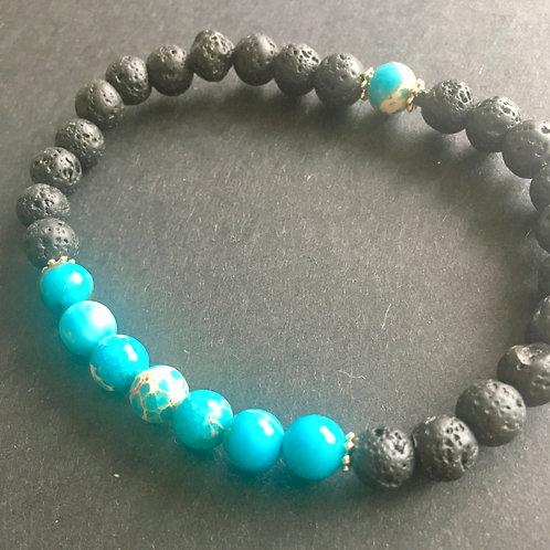 AerTerra Bracelet - Water - Turquoise Jasper