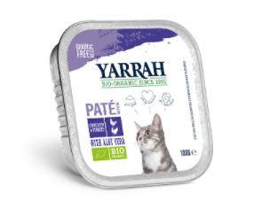 Biologisch kattenvoer paté met kip en kalkoen
