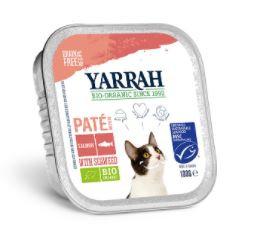 Biologisch kattenvoer paté met zalm